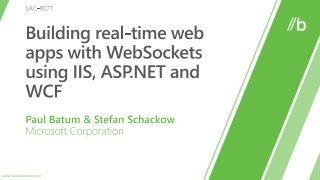 Building real-time web apps with WebSockets using IIS, ASP and WCF