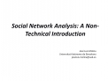 Social Network Analysis: A Non-Technical Introduction