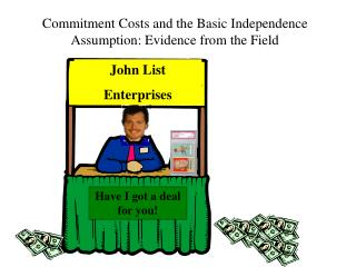 Commitment Costs and the Basic Independence Assumption: Evidence from the Field