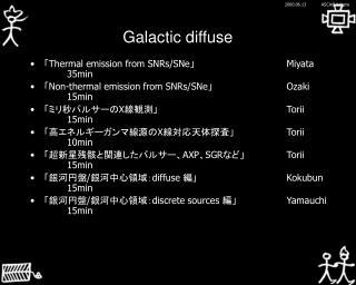 Galactic diffuse