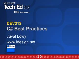 DEV312  C# Best Practices