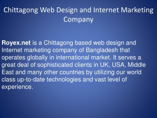 Chittagong Website Design And online Marketing Company Of Ba