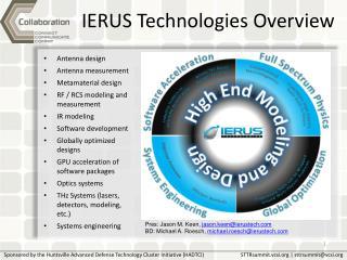 IERUS Technologies Overview