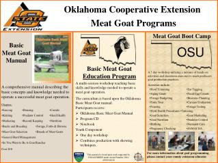 Oklahoma Cooperative Extension  Meat Goat Programs