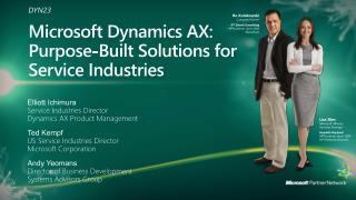 Microsoft Dynamics AX: Purpose-Built Solutions for Service Industries