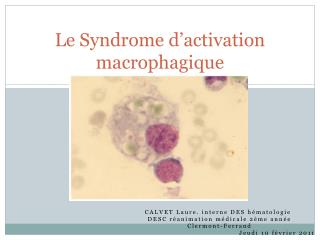 Le Syndrome d'activation macrophagique