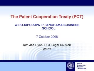 The Patent Cooperation Treaty (PCT)