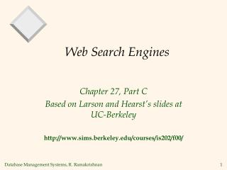 Web Search Engines