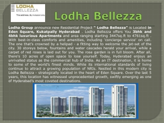 Hyderabad Project Lodha Bellezza
