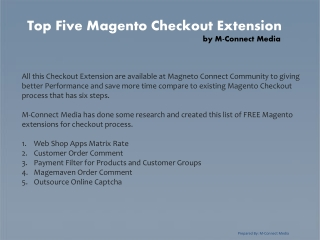 Top Five Check Out Extension for Magento