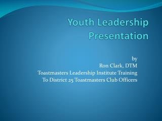 Youth Leadership Presentation