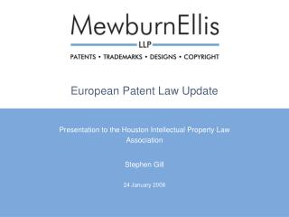 European Patent Law Update