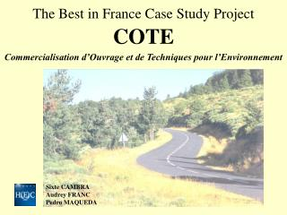 The Best in France Case Study Project