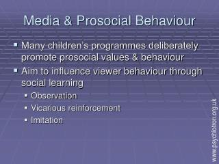 Media & Prosocial Behaviour