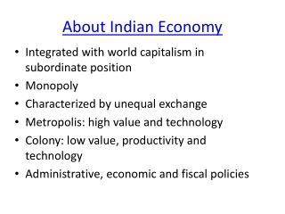 About Indian economy