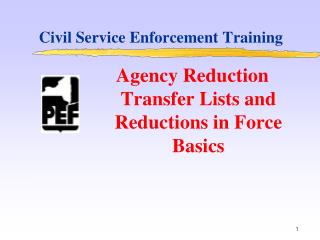Civil Service Enforcement Training
