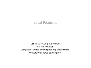 Local Features