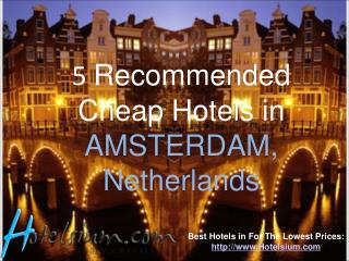 5 Recommended Cheap Hotels in AMSTERDAM