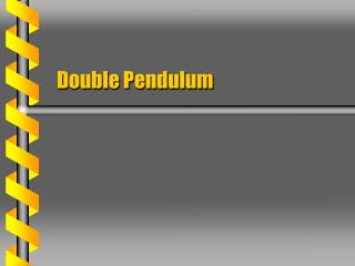 Double Pendulum