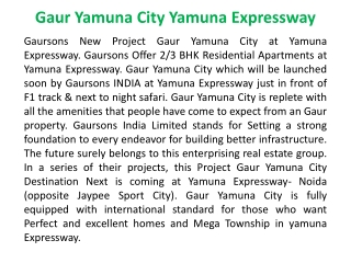 919899303232!!Gaur Yamuna City!!Gaur Yamuna City Yamuna