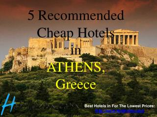 5 Recommended Cheap Hotels in Athens