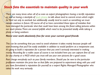 Stock foto the essentials to maintain quality in your work