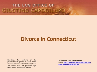 Divorce in Connecticut -  Giustino Capodilupo