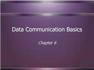 Data Communication Basics