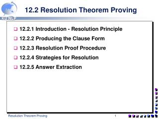 12.2 Resolution Theorem Proving