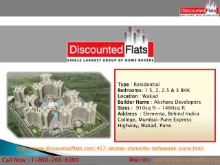Buy 2 & 3BHK Apartments in Tathawade - Akshar Elementa