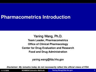 Pharmacometrics Introduction