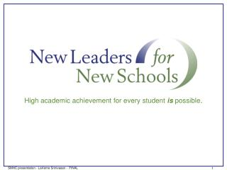 High academic achievement for every student  is  possible .