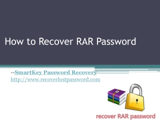 How to Recover RAR Password