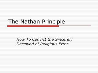 The Nathan Principle