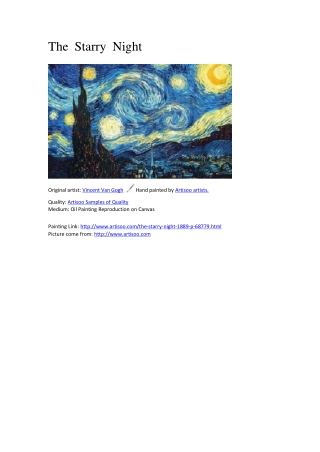 The Starry Night - Artisoo.com