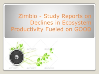 Zimbio - Study Reports on Declines in Ecosystem Productivity