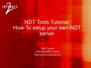 NDT Tools Tutorial: How-To setup your own NDT server