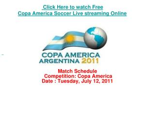 watch chile vs peru copa america soccer live streaming onlin