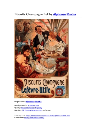 Biscuits Champagne Lef by Alphonse Mucha