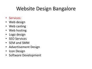 Website Design Bangalore@ 08065327766