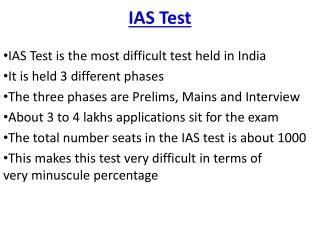 IAS Test