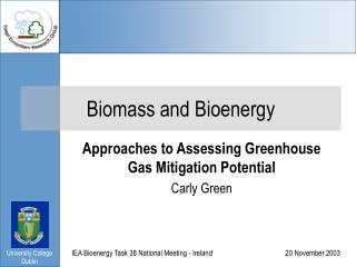Biomass and Bioenergy