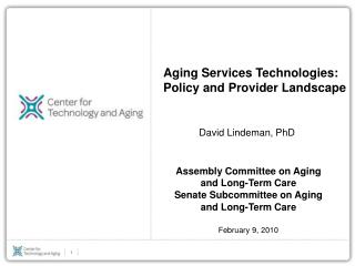 Aging Services Technologies: Policy and Provider Landscape