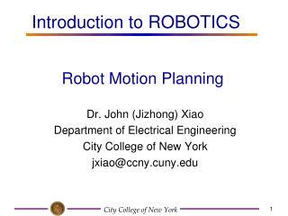 Robot Motion Planning