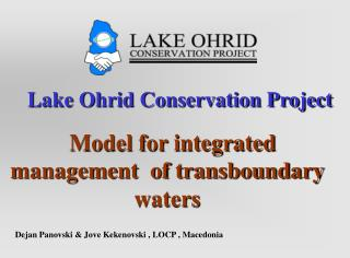 Lake Ohrid Conservation Project