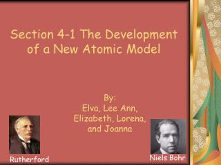 Section 4-1 The Development of a New Atomic Model