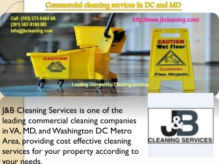 Commercial cleaning services In DC and MD