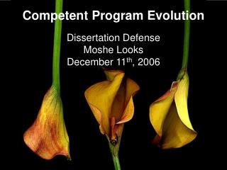 Competent Program Evolution