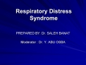 Respiratory Distress Syndrome