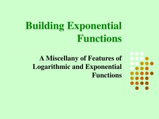 Building Exponential Functions